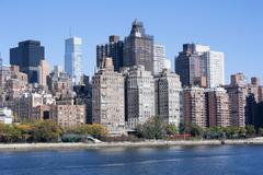 Manhattan Midtown skyline at sunrise New York City Kuvituskuvat