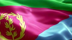 Flag Eritrea Stock Footage