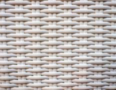 White wicker surface background Stock Photos