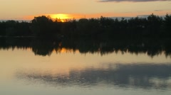 Sunset Over the Lake Stock Footage