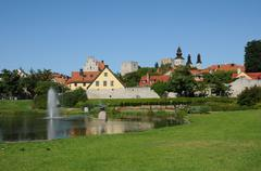 Stock Photo of old and picturesque city of visby