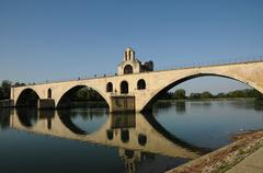 France, Le Pont  d Avignon in Provence Stock Photos