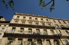 France, Provence, facade of old building in Avignon - stock photo