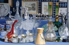 Objects on a flea market Stock Photos