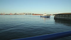 Burrard Inlet, Seabus Docking, North Vancouver Stock Footage