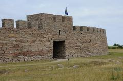 Old and picturesque fort of Eketorp Stock Photos