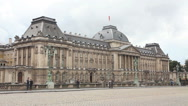 Stock Video Footage of Royal Palace bulding facade in Brussels, Belgium