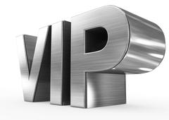 VIP metal - 3d letters isolated on white Stock Illustration