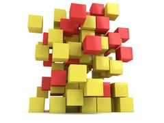 Stock Illustration of 3D Cubes block. Assembling concept.