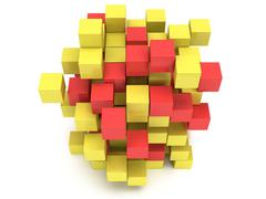 3D Cubes block. Assembling concept. - stock illustration