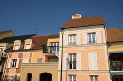 Ile de France, residential block in Vaureal Stock Photos
