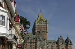 Le Chateau Frontenac in the city of Quebec - stock photo