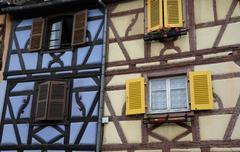 France, Alsace, renaissance house in Colmar Stock Photos