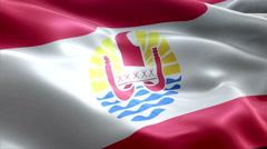 Flag French Polynesia Stock Footage