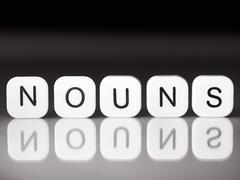 Noun concept - stock photo