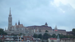 Old Budapest with Matthias church at night Stock Footage