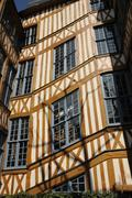 Stock Photo of Normandy, picturesque old historical house in Rouen