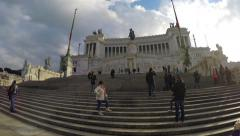 View of the national, monument a Vittorio Emanuele II, Rome Stock Footage