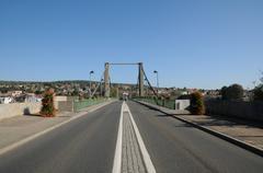 Stock Photo of France, suspension bridge of Triel Sur Seine