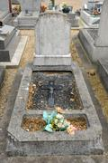 France, old tomb in Les Mureaux cemetary - stock photo