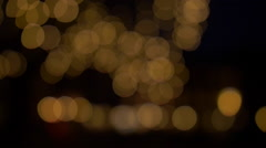 Bokeh Lights Orange Background - Abstract Stock Footage