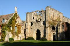 Stock Photo of France, Yvelines,  les Vaux de Cernay abbey