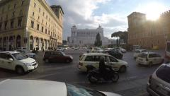 View of the national monument a Vittorio Emanuele II, Rome Stock Footage
