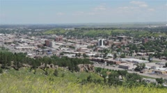 High City View From Field - stock footage