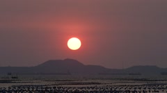 Time lapse of sunset at island (Si Chang), Chonburi, Thailand Stock Footage