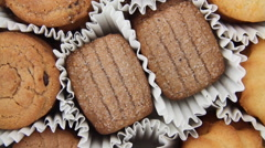 Taking out many cookies Stock Footage
