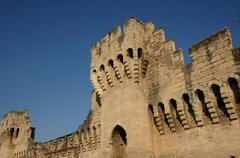 Stock Photo of France, the ramparts of Avignon in Provence