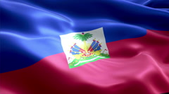 Flag Haiti - stock footage