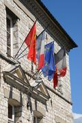 Ile de France, the city hall of Giverny - stock photo