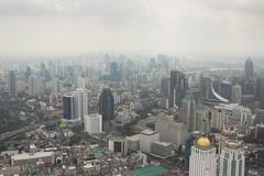 Smog over Bangkok in the city center - stock photo