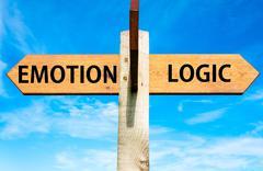 Emotion versus Logic - stock photo