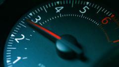 Тachometer car closeup - stock footage