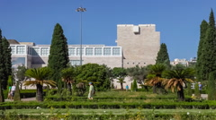 Centro Cultural de Belem seen from Imperio Garden, Lisbon - stock footage