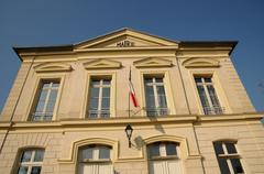 Ile de France, the city hall of Themericourt - stock photo