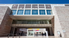 Centro Cultural de Belem in Lisbon - stock footage