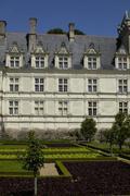 France, the renaissance castle of Villandry Stock Photos