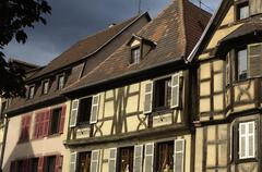 Stock Photo of France, the small village of Kaysersberg in Alsace