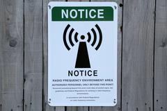 Radio Frequency Environment Area Notice - stock photo