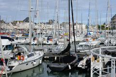 Loire Atlantique, sailing ships  in Le Pouliguen port - stock photo