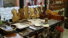 The violin workshop Stock Footage