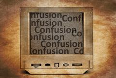 TV confusion - stock photo