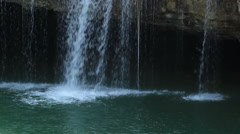 Lake and waterfall Stock Footage