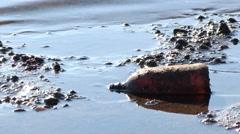 Beach Pollution Stock Footage