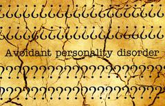 Avoidant personality disorder - stock photo