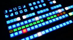 TV Studio Control Board Stock Footage