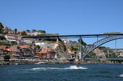 Stock Photo of historical bridge of the city of Porto in Portugal
